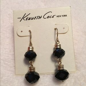 New Kenneth Cole Earrings black and gold